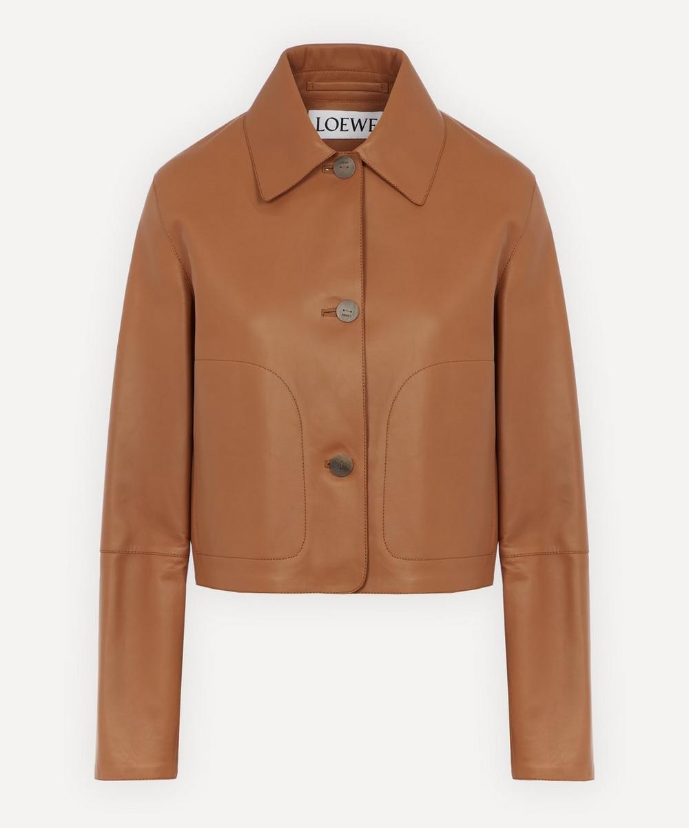 Loewe - Cropped Leather Jacket