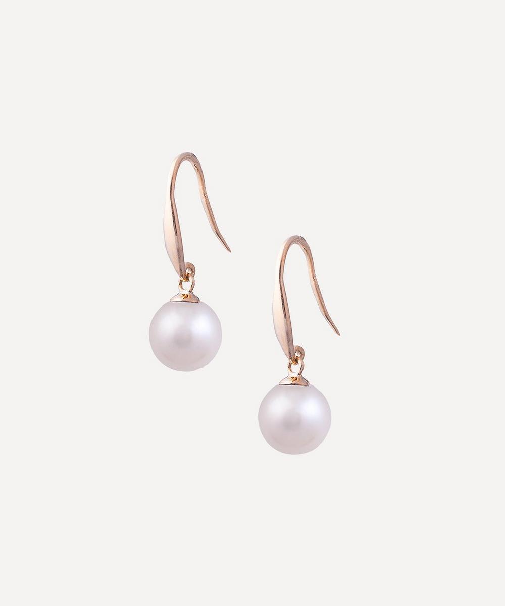 Kojis - Gold Pearl Drop Earrings