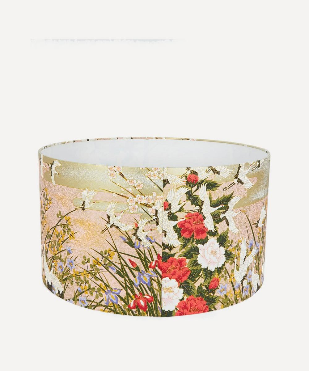 Esmie - Flying Cranes Silk Screen-Printed Lampshade