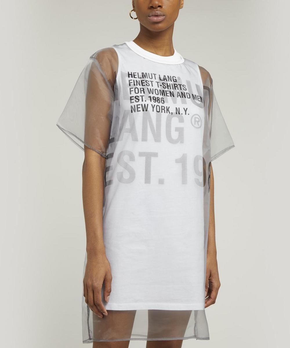 Helmut Lang - Sheer Overlay T-Shirt Dress