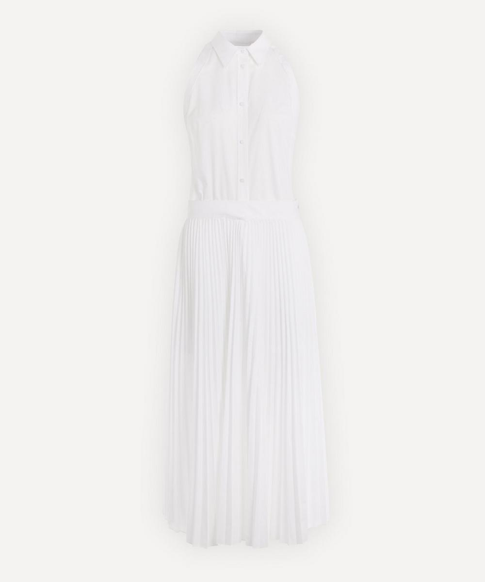 Helmut Lang - Pleated Button-Up Midi-Dress