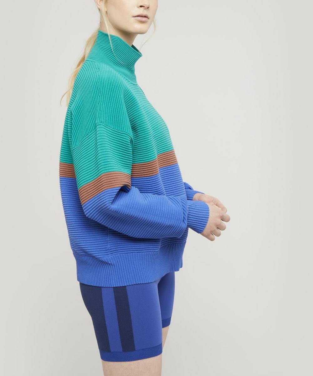 NAGNATA - Colour Block Organic Cotton Rib Sweater