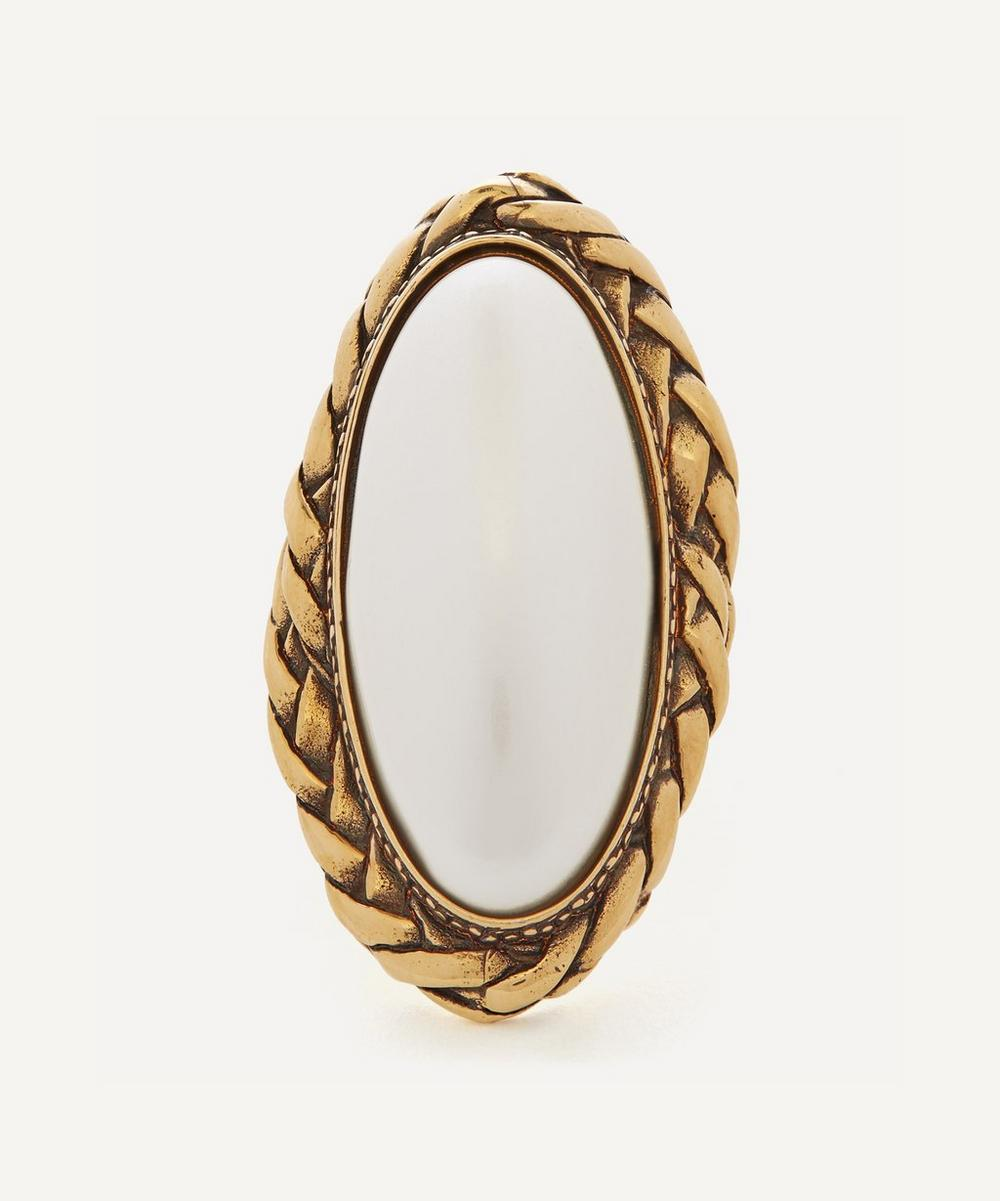 Alexander McQueen - Gold-Tone Brass Faux Pearl Ring