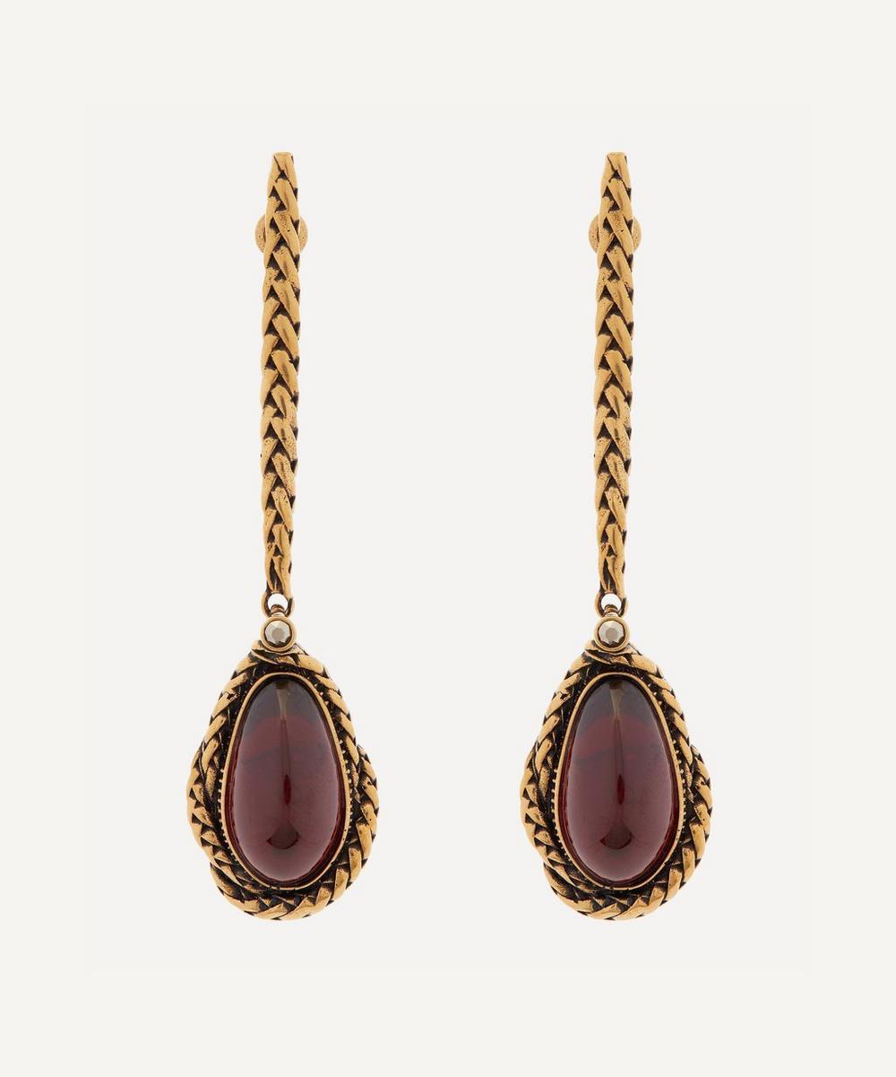 Alexander McQueen - Silver-Tone Brass Faux Pearl Drop Earrings