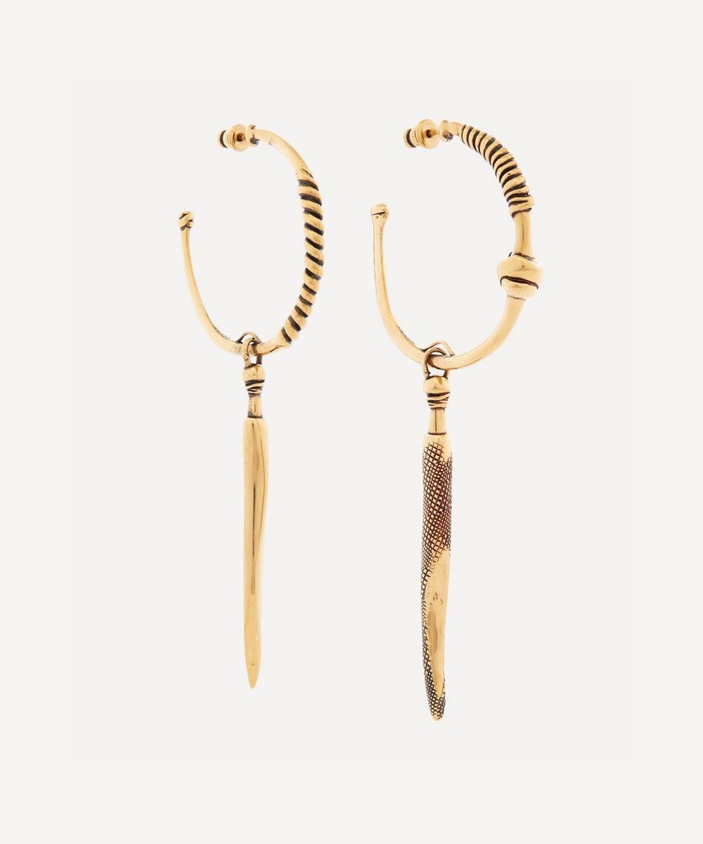 Alexander McQueen - Gold-Tone Brass Twisted Drop Earrings