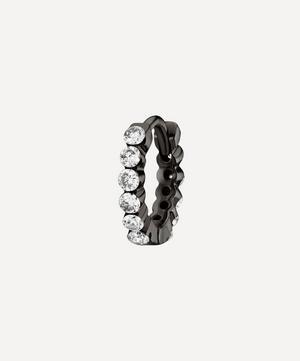 6.5mm Diamond Invisible Set Eternity Hoop Earring
