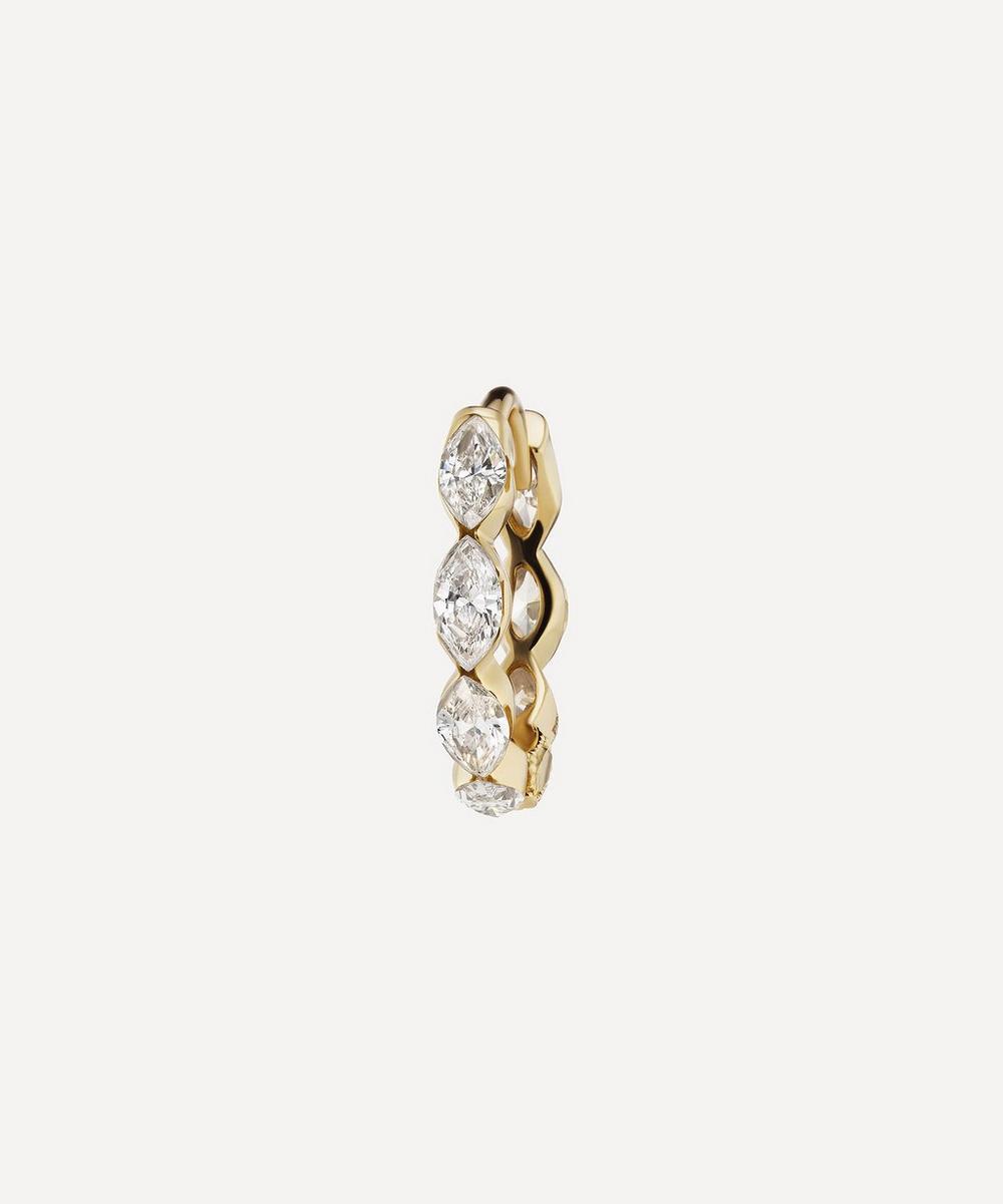 Maria Tash - 8mm Invisible Set Diamond Marquise Eternity Hoop Earring