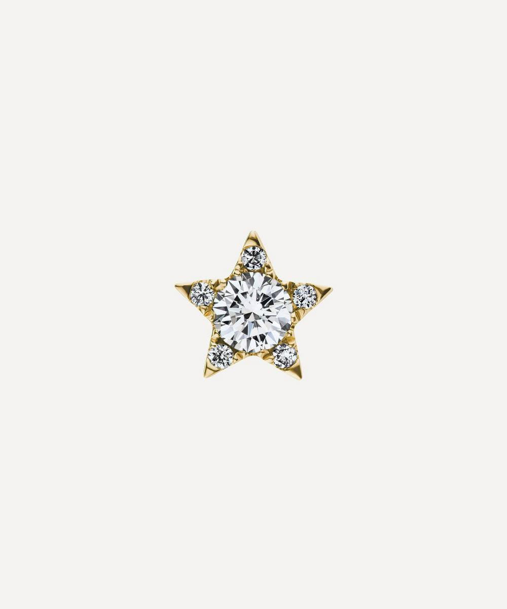 Maria Tash - 7mm Diamond Star Threaded Stud Earring