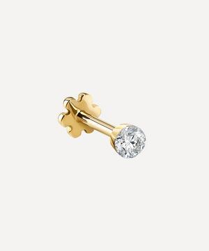 2mm Invisible Set Diamond Threaded Stud Earring