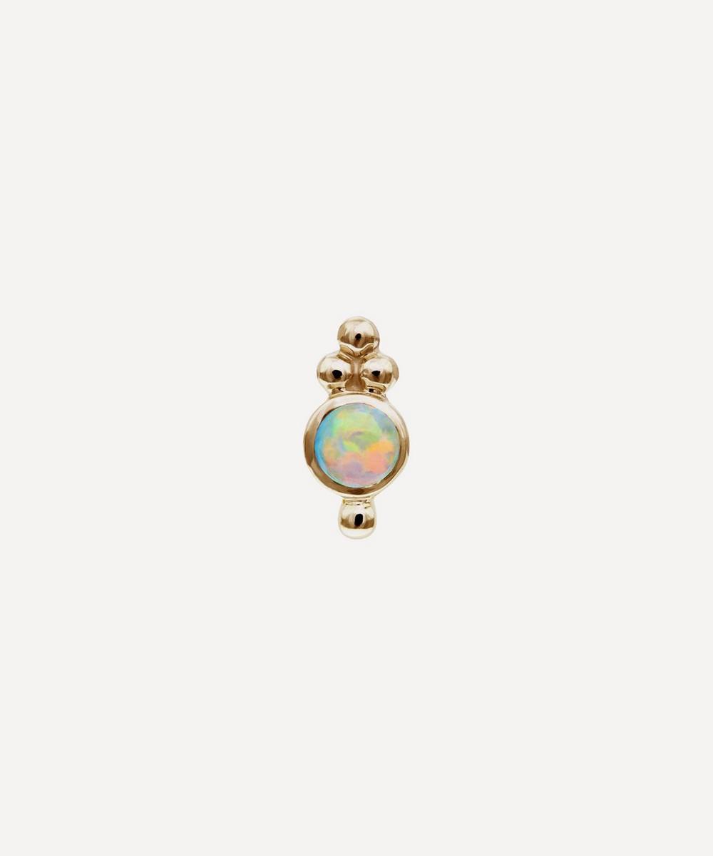 Maria Tash - Opal Four Ball Trinity Threaded Stud Earring