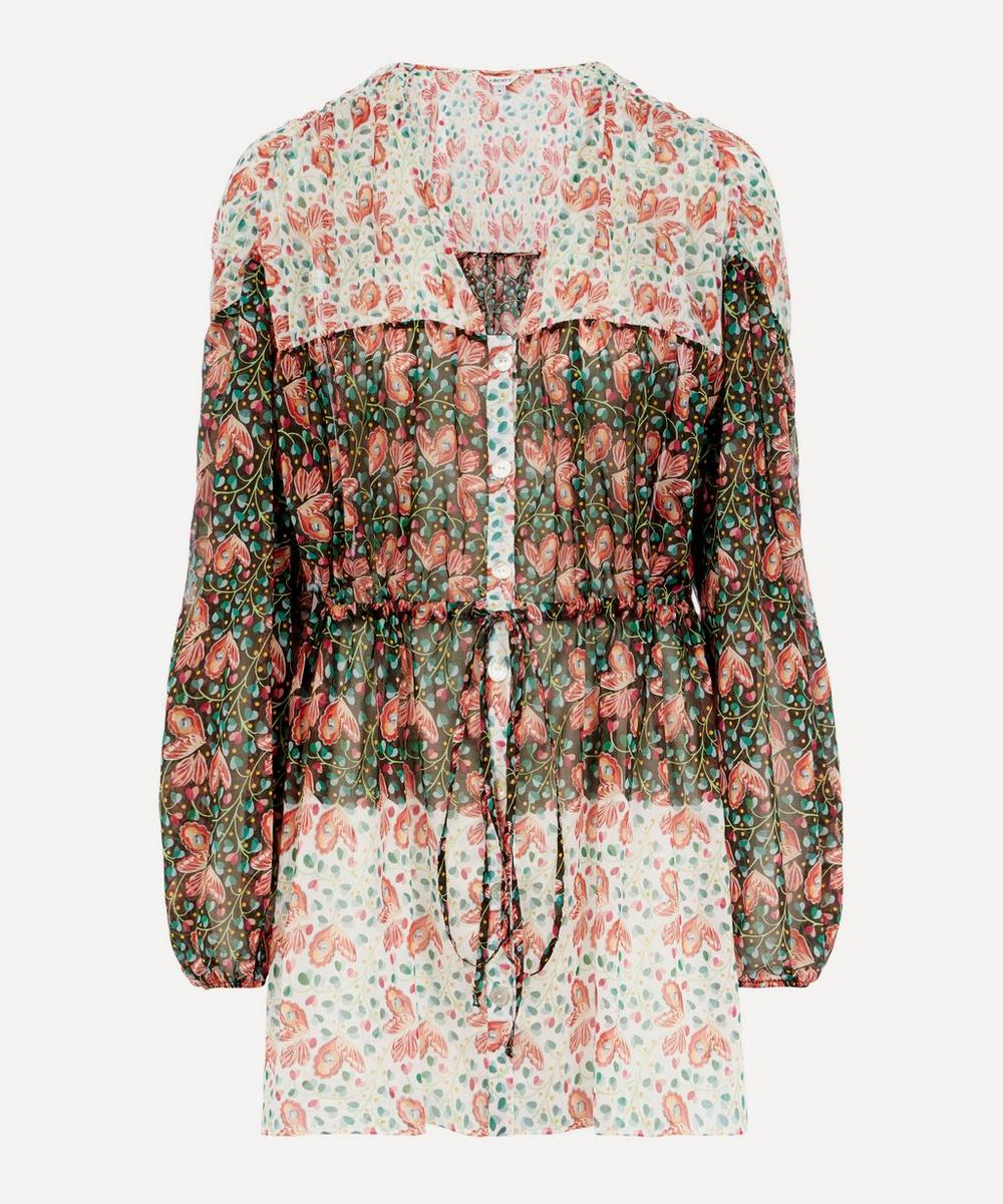 Liberty - Coralie Cotton Chiffon Tiered Short Dress