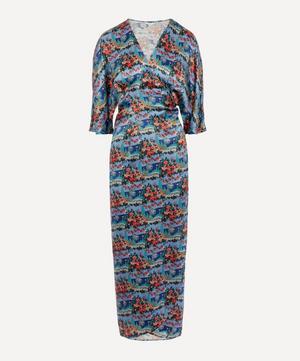 Dina Silk Wrap Dress