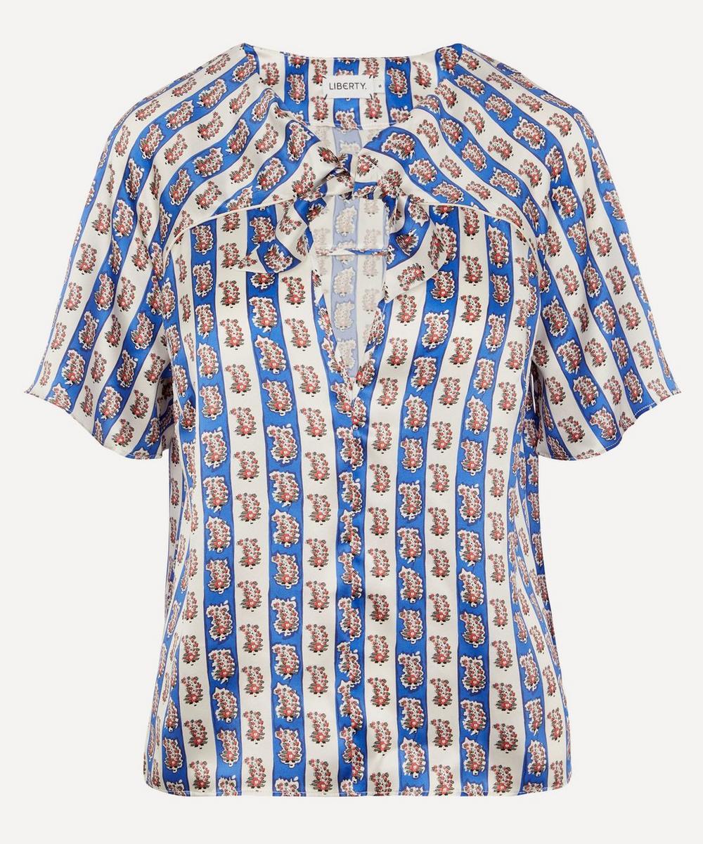 Liberty - Mixed Print Silk Beach Tie T-shirt