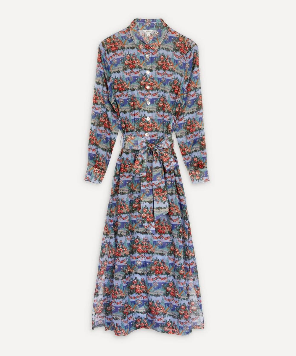 Liberty - Dina Cotton Chiffon Shirt Dress