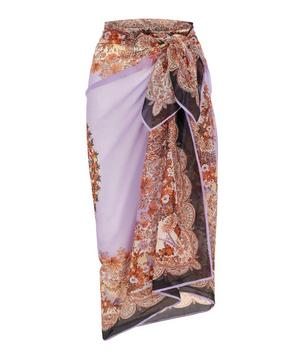 Mixed Print Cotton Chiffon Sarong
