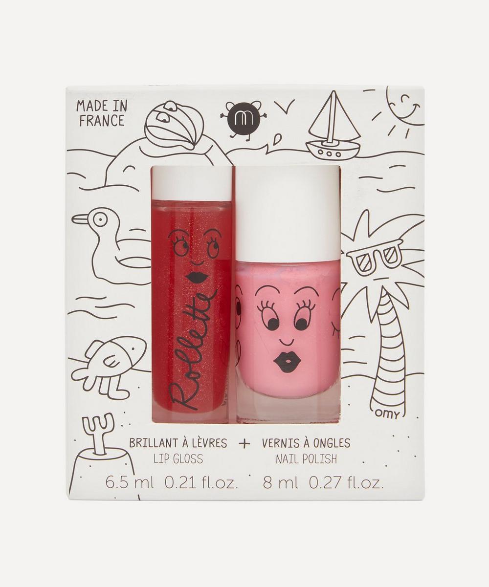 Nailmatic - Holidays Rollette Lip Gloss and Nail Varnish Set