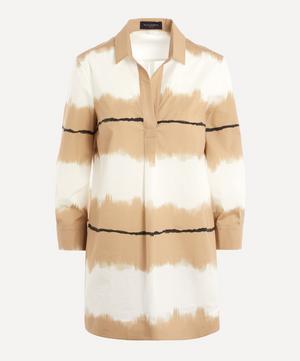 Ombre Art Striped Cotton Tunic Shirt