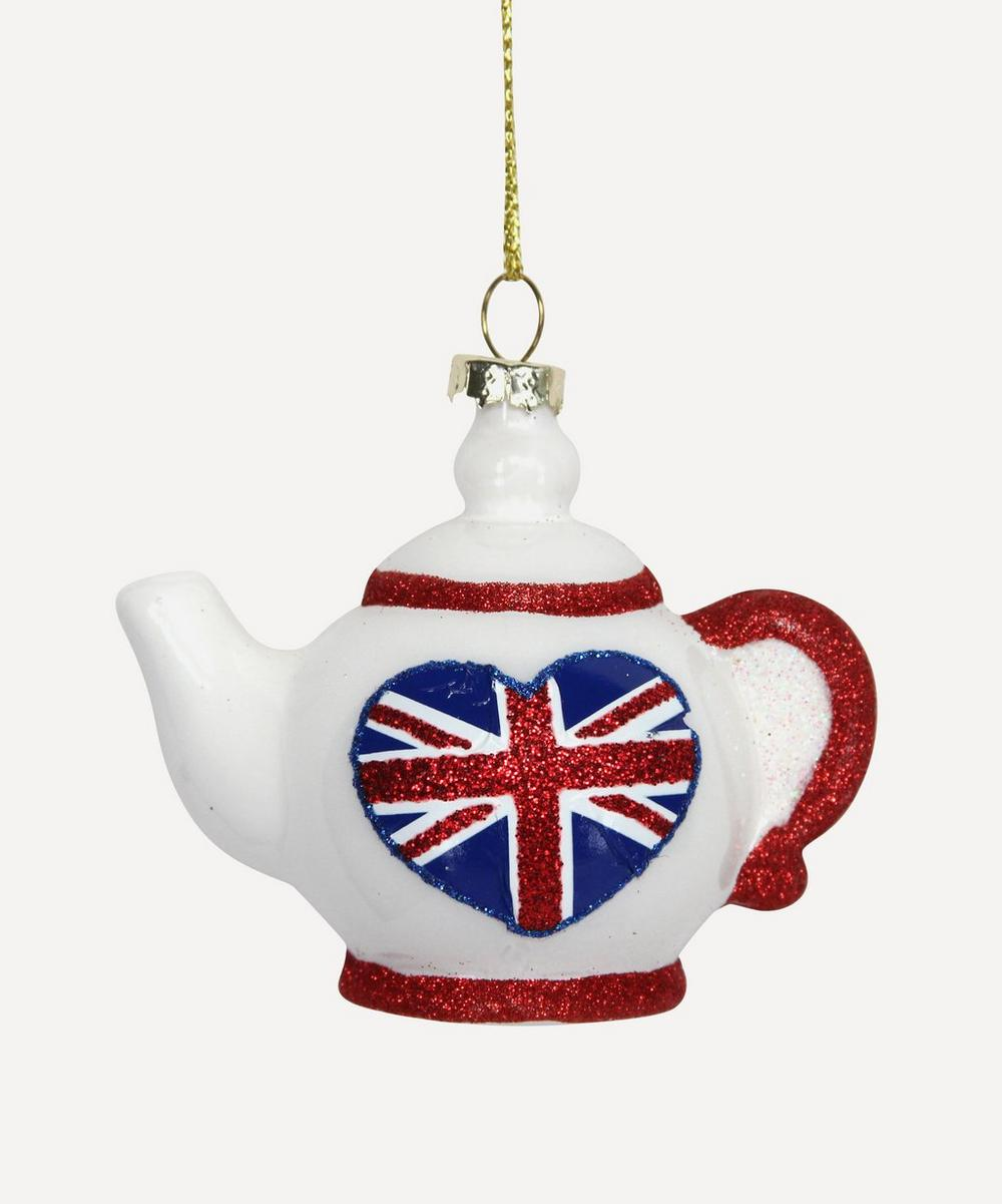 Unspecified - Union Jack Teapot Ornament