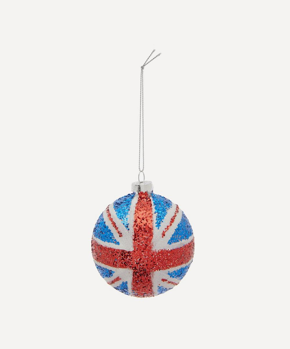 Unspecified - Glitter Union Jack Flag Bauble