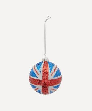 Glitter Union Jack Flag Bauble