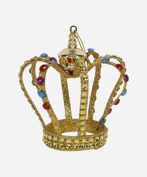 Metal Glitter Crown Decoration