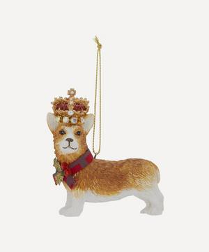 Corgi with Crown Decoration