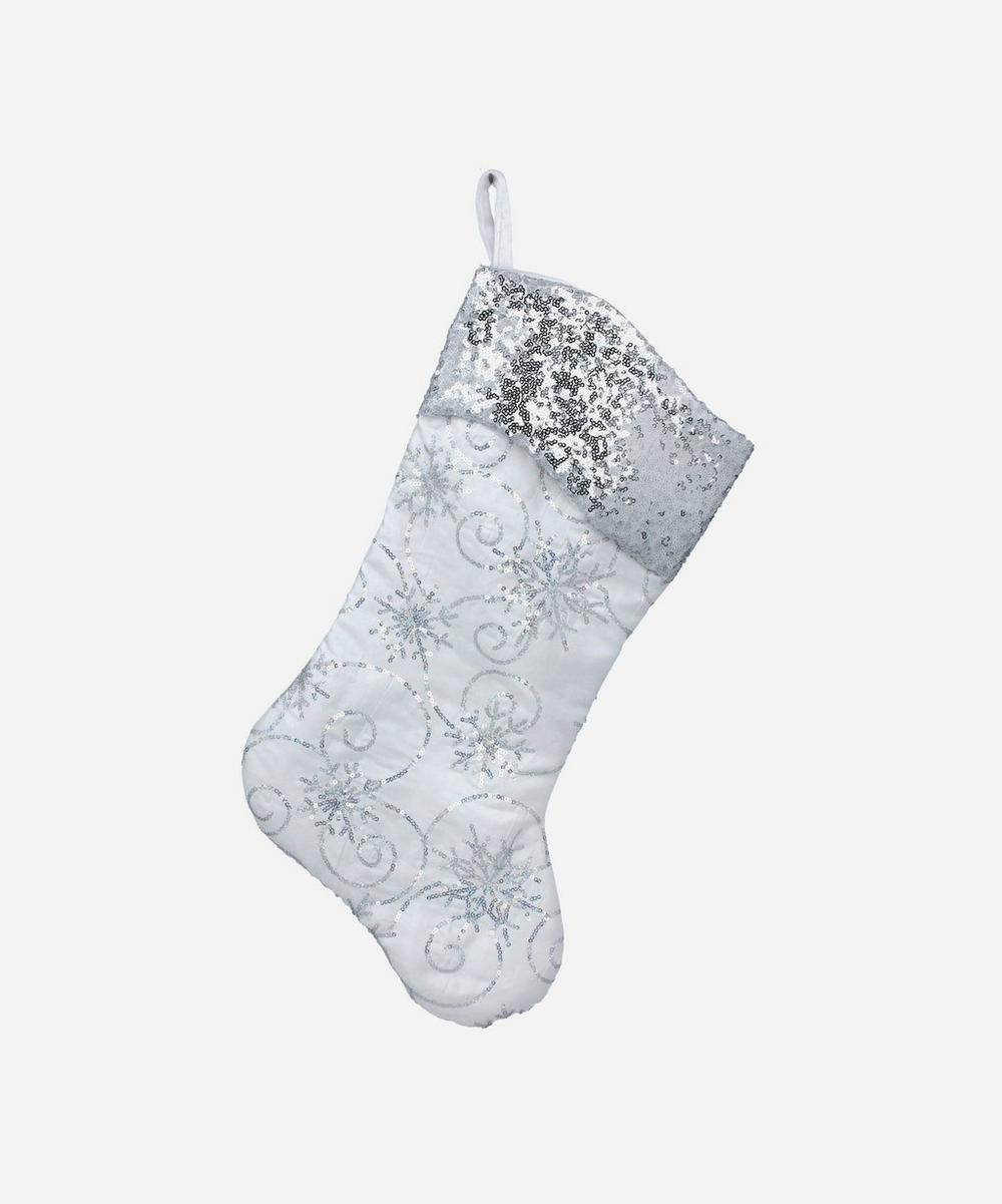 Unspecified - Silver Snowflake Stocking