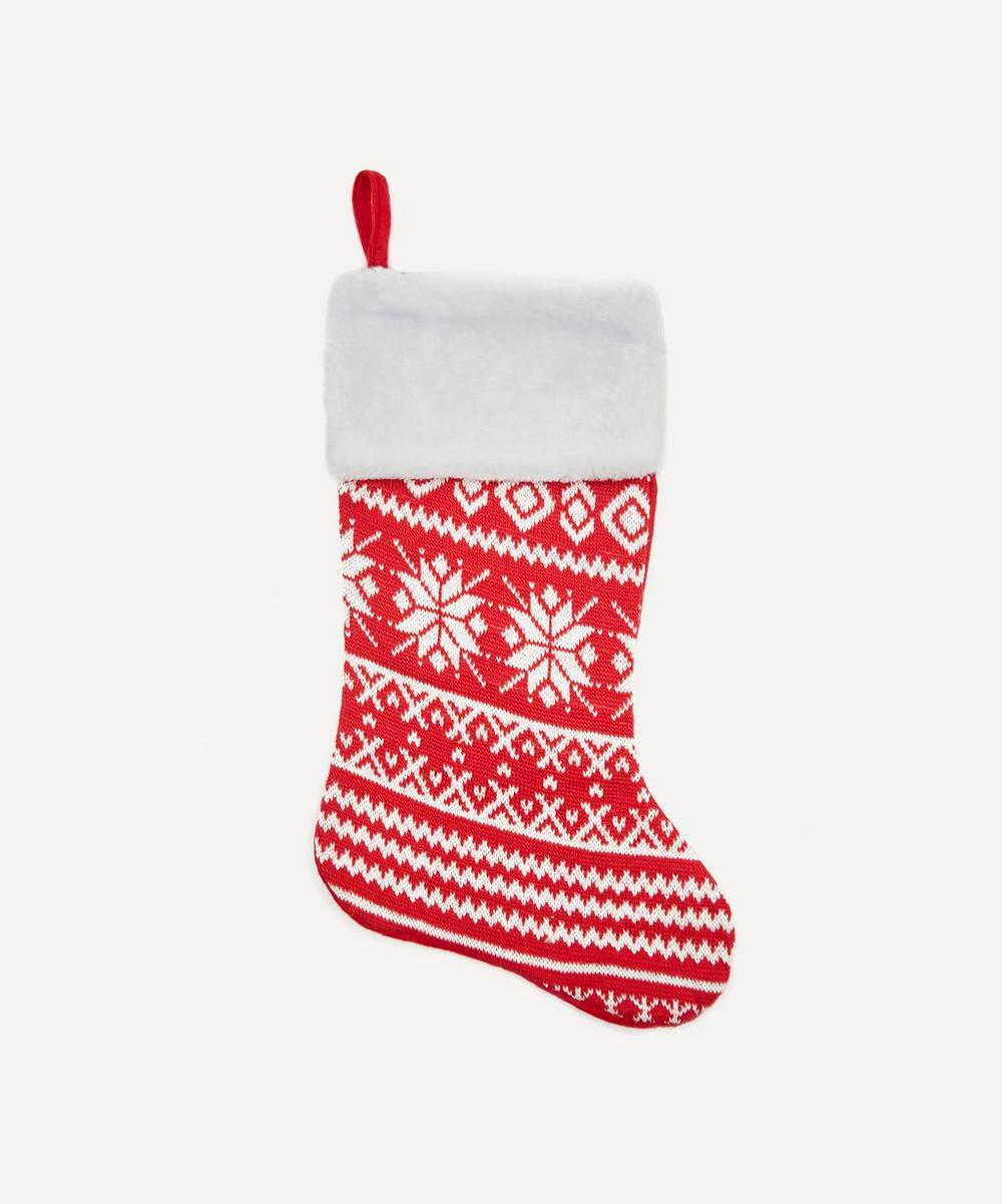 Unspecified - Red Snowflake Stocking