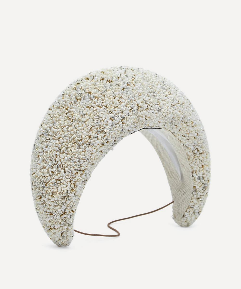 Jane Taylor - Medium Sequin Moon Headpiece