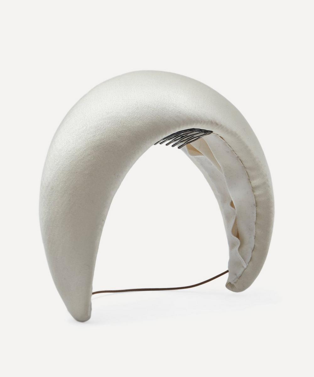 Jane Taylor - Medium Satin Moon Headpiece