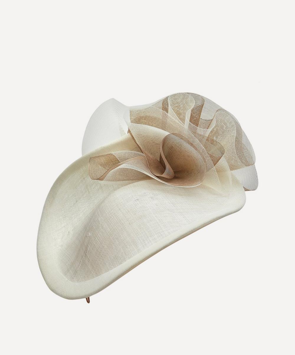 Jane Taylor - Sinamay Shell Disc Headpiece