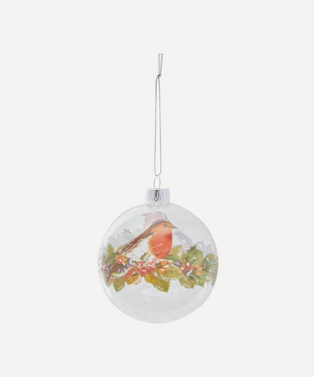 Unspecified - Clear Glass Robin Bauble