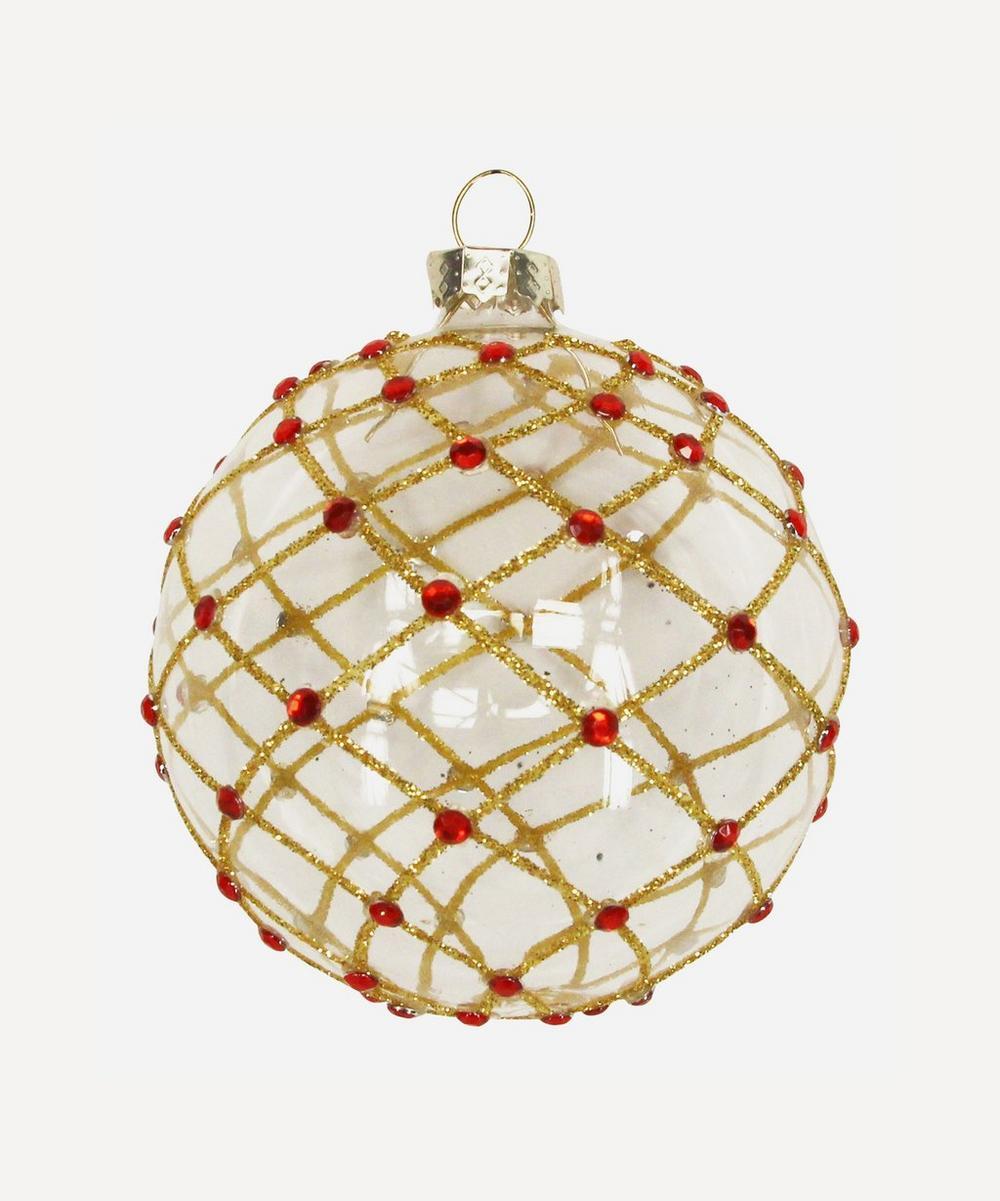 Unspecified - Glitter Grid Bauble