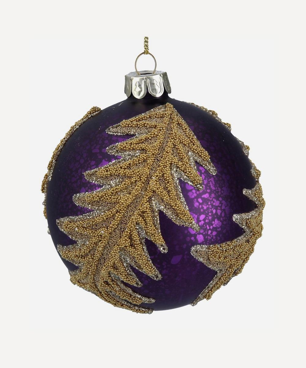Unspecified - Gold Tree Glitter Bauble