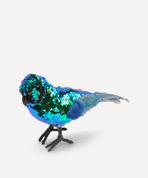 Heritage Sequin and Feather Parrot Ornament