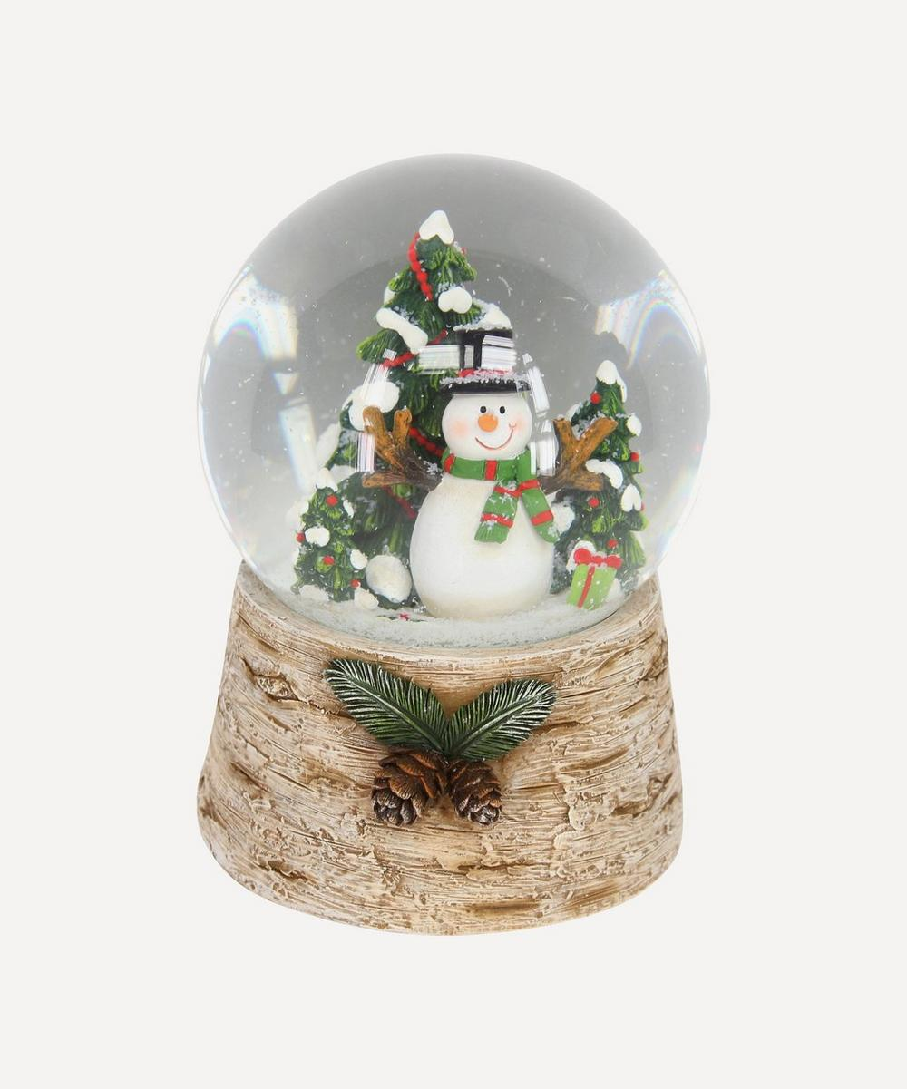 Unspecified - Snowman with Christmas Tree Musical Dome