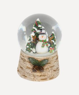 Snowman with Christmas Tree Musical Dome