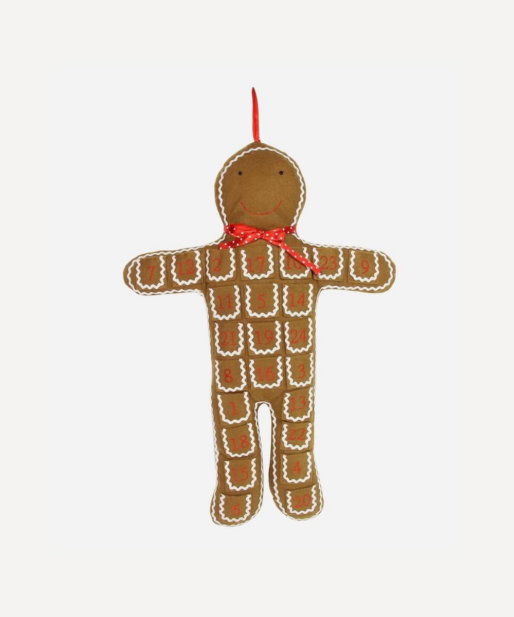 Unspecified - Fabric Gingerbread Advent Decoration