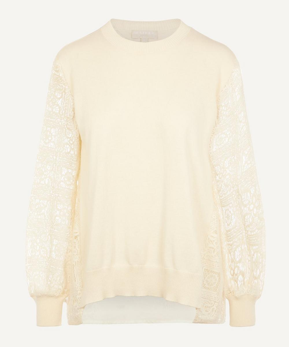CLU - Lace Panelled Pullover Top