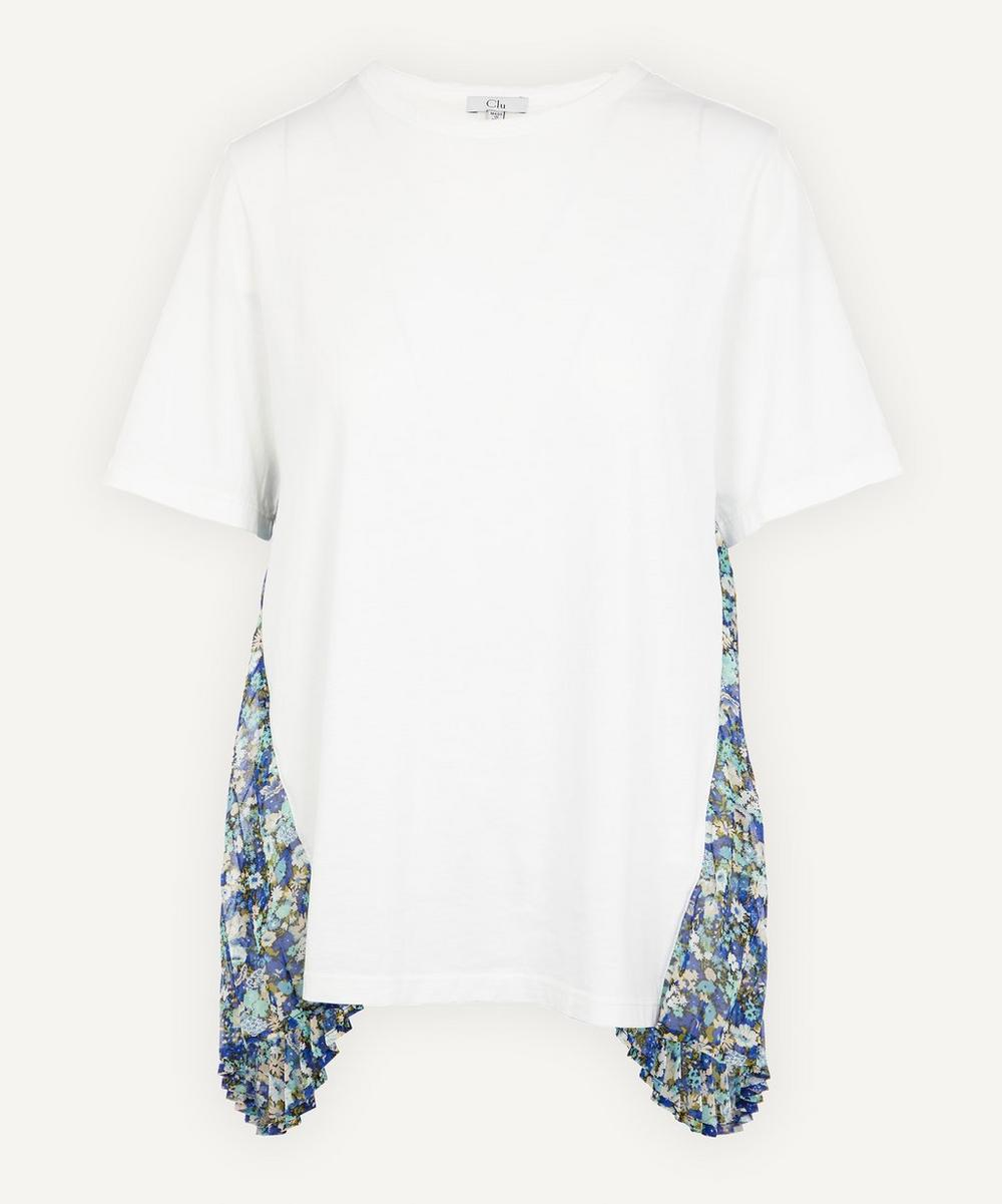 CLU - Pleated Floral Back Panel T-Shirt