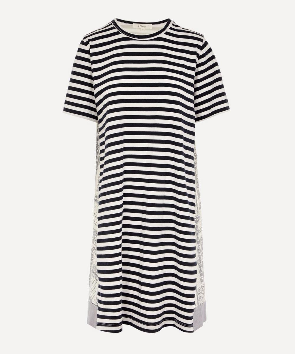 CLU - Contrast Back Striped Cotton Dress