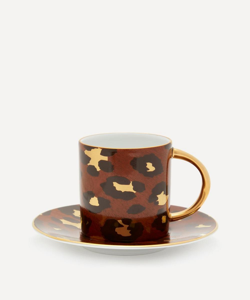 L'Objet - Leopard Espresso Cup and Saucer