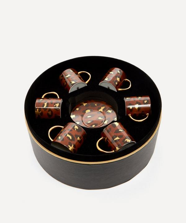 L'Objet - Leopard Espresso Cup and Saucer Set of Six