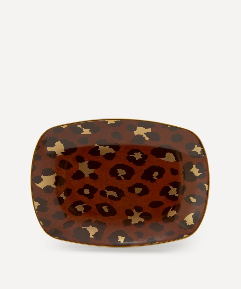 L'Objet - Small Leopard Rectangular Tray