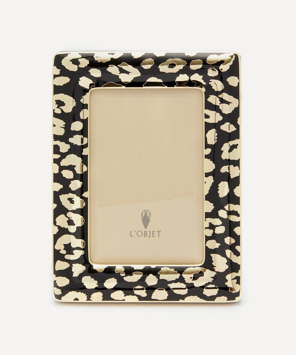 "L'Objet - Leopard Gold-Plated 4x6"" Photo Frame"