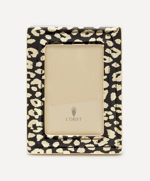"""Leopard Gold-Plated 4x6"""" Photo Frame"""