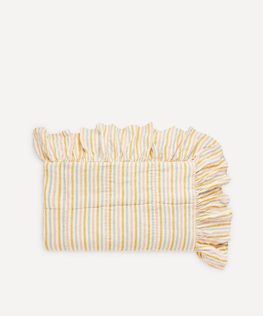 Projektityyny - Stripe Linen Frill Quilt