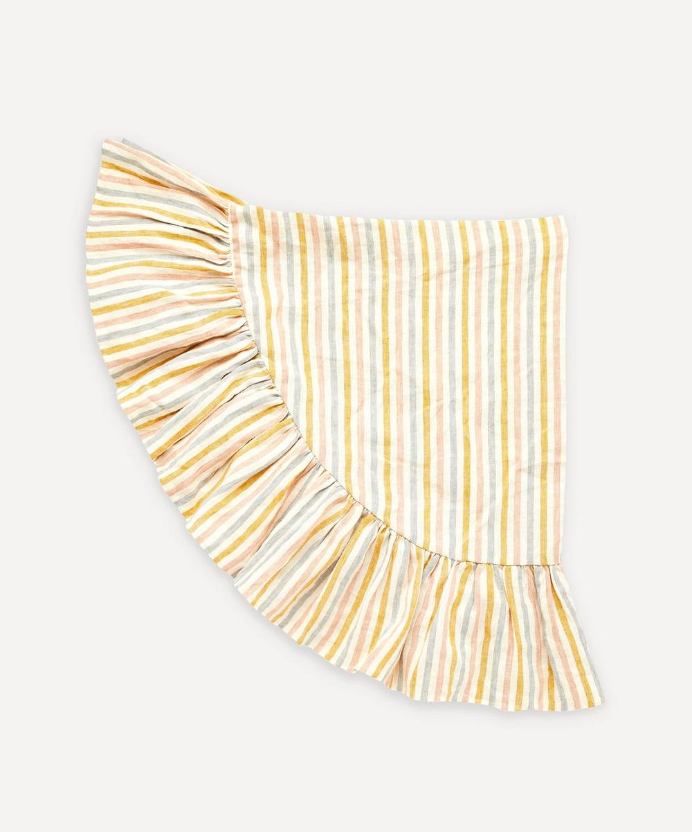Projektityyny - Round Stripe Linen Tablecloth
