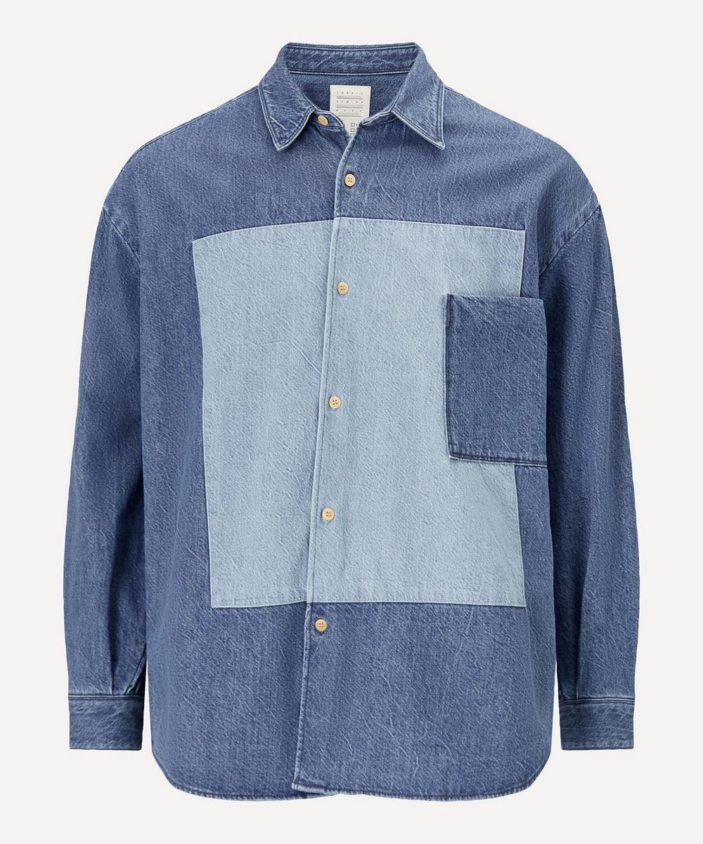 Kuro - Switched Panel Denim Shirt