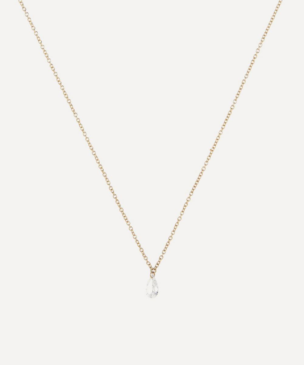 Atelier VM - Gold Filo Di Luce Drop Diamond Necklace